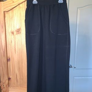 Black athletic style maxi skirt